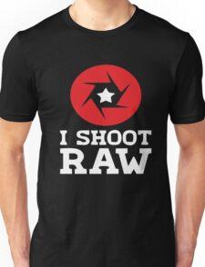 I Shoot RAW - Funny Photography Photographer Gift T-Shirt Unisex T-Shirt