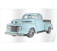 1950 Ford F1 Pickup Poster