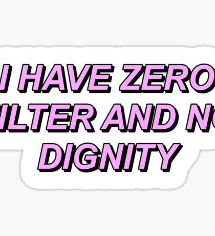 Game Grumps - Zero Filter No Dignity  Sticker