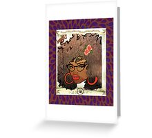 Beautiful and Fly Brown Girl Greeting Card