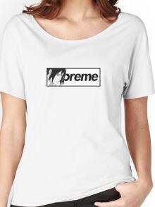 Supreme x Naruto Sasuke Parody Small Box Logo Tee Women's Relaxed Fit T-Shirt