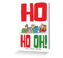 Ho Ho Oh Santa Greeting Card