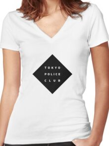 Tokyo Police Club (Champ) Women's Fitted V-Neck T-Shirt