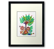 Tree of Hearts Framed Print