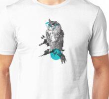 Hipster Owl - sticker Unisex T-Shirt