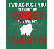 Front Of Zombies Pomeranian Photographic Print