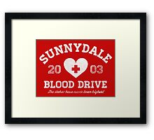Sunnydale Blood Drive Framed Print