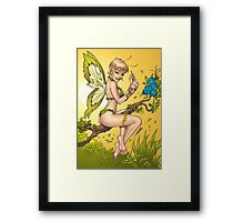Beautiful Elf Fairy Pinup Art by Al Rio Framed Print