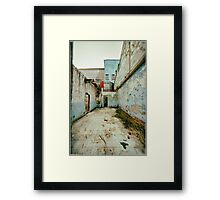 Abandoned Building with Red Bricks Framed Print