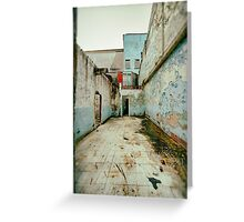 Abandoned Building with Red Bricks Greeting Card