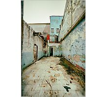 Abandoned Building with Red Bricks Photographic Print