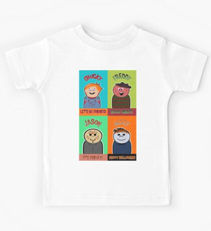 Horror Movie Friends Kids Tee