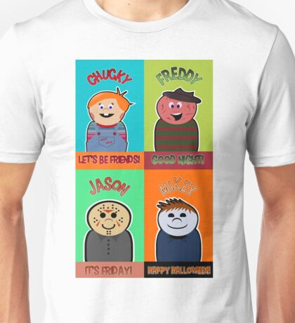Horror Movie Friends Unisex T-Shirt