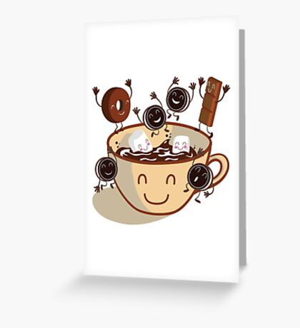 Hot chocolate time! Greeting Card