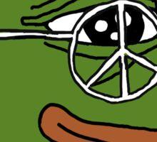 Peace Pepe Sticker