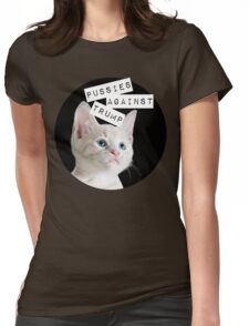Pussies Against Trump Womens Fitted T-Shirt