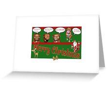 Dogue de Bordeaux - Ate Santa Greeting Card