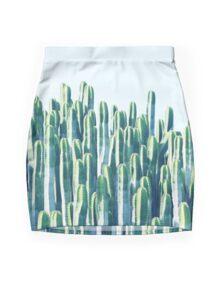 Cactus V2 #redbubble #home #lifestyle #buyart #decor Mini Skirt