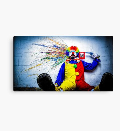 tears of a clown Canvas Print