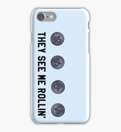 They See Me Rollin' Black Moon Emoji Trendy/Hipster/Tumblr Meme iPhone Case/Skin
