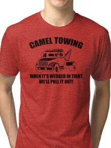 Camel Towing Mens T-Shirt Tee Funny Tshirt Tow Service Toe College Humor Cool Tri-blend T-Shirt