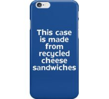This t-shirt is made from recycled cheese sandwiches iPhone Case/Skin