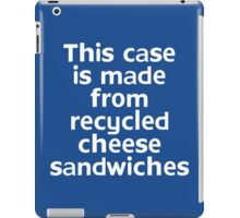 This t-shirt is made from recycled cheese sandwiches iPad Case/Skin