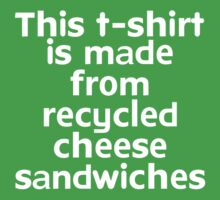 This t-shirt is made from recycled cheese sandwiches Kids Clothes