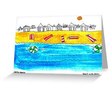 Beach with Balls Greeting Card