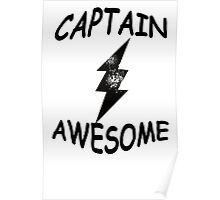 CAPTAIN AWESOME TSHIRT Funny Humor TEE COMIC VINTAGE New LIGHTNING VTG 80s Cool Poster