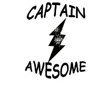 CAPTAIN AWESOME TSHIRT Funny Humor TEE COMIC VINTAGE New LIGHTNING VTG 80s Cool Photographic Print