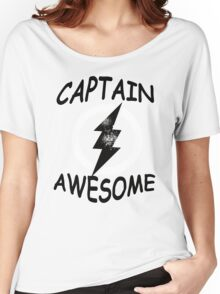 CAPTAIN AWESOME TSHIRT Funny Humor TEE COMIC VINTAGE New LIGHTNING VTG 80s Cool Women's Relaxed Fit T-Shirt