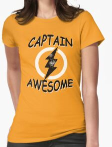 CAPTAIN AWESOME TSHIRT Funny Humor TEE COMIC VINTAGE New LIGHTNING VTG 80s Cool Womens Fitted T-Shirt