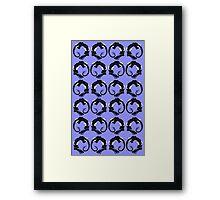 Coiled Blue Dragons Framed Print