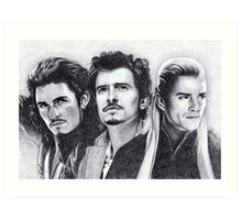The Many Faces of Orlando Bloom Art Print