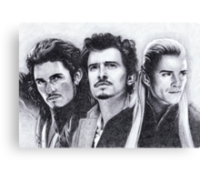 The Many Faces of Orlando Bloom Canvas Print