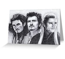 The Many Faces of Orlando Bloom Greeting Card