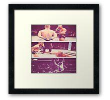 Conor Mcgregor KO Eddie Alverez UFC  Framed Print