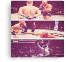 Conor Mcgregor KO Eddie Alverez UFC  Canvas Print