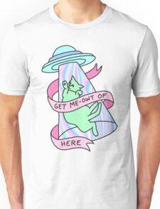 UFO cat alien introvert pastel grunge 90s hologram xfiles Unisex T-Shirt