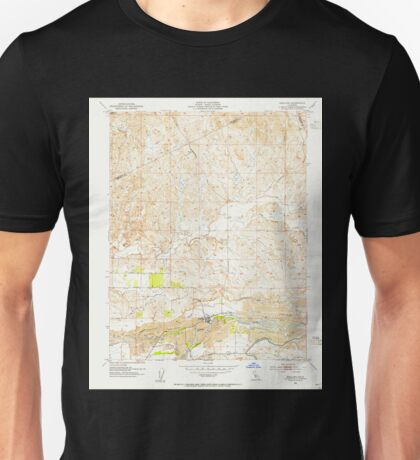USGS TOPO Map California CA Snelling 300556 1953 24000 geo Unisex T-Shirt