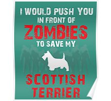 Front Zombies Scottish Terrier Poster