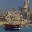 Marsamxett Harbour, Valletta by wiggyofipswich