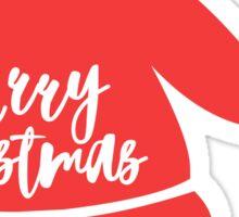 Santa claus hat Merry Christmas Sticker