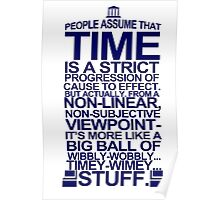 DOCTOR WHO TYPOGRAPHY T Shirt Doc Dr BBC Tardis Time Dalek New Tenth Timey Wimey Poster