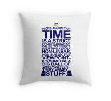 DOCTOR WHO TYPOGRAPHY T Shirt Doc Dr BBC Tardis Time Dalek New Tenth Timey Wimey Throw Pillow