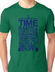 DOCTOR WHO TYPOGRAPHY T Shirt Doc Dr BBC Tardis Time Dalek New Tenth Timey Wimey Unisex T-Shirt