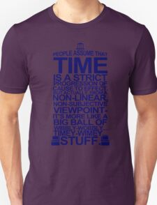 DOCTOR WHO TYPOGRAPHY T Shirt Doc Dr BBC Tardis Time Dalek New Tenth Timey Wimey T-Shirt