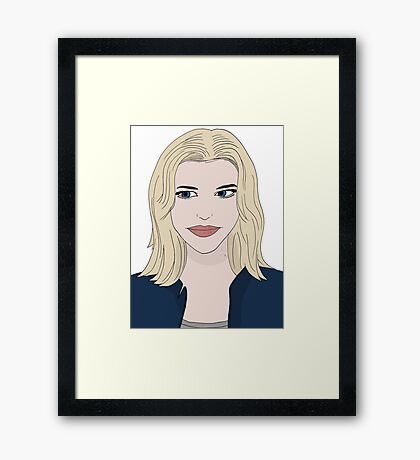 Rebecca as Eve portrait illustration Framed Print