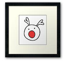 Rudolf Red nose Reindeer Framed Print